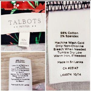 Talbots Skirts - Talbots petits floral printed skirt size 12